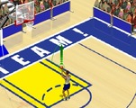 Shooting-game-in-basketball-stadium